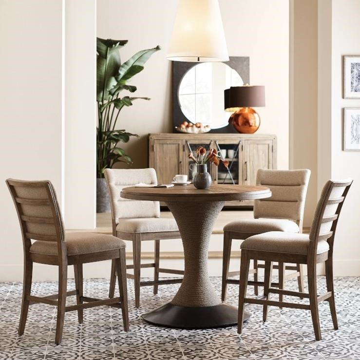 Modern Forge 5-Piece Pub Dining Set by Kincaid Furniture at Northeast Factory Direct
