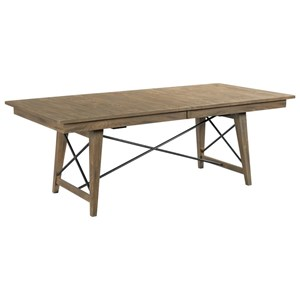 Laredo Rectangular Solid Wood Dining Table with Two Table Leaves