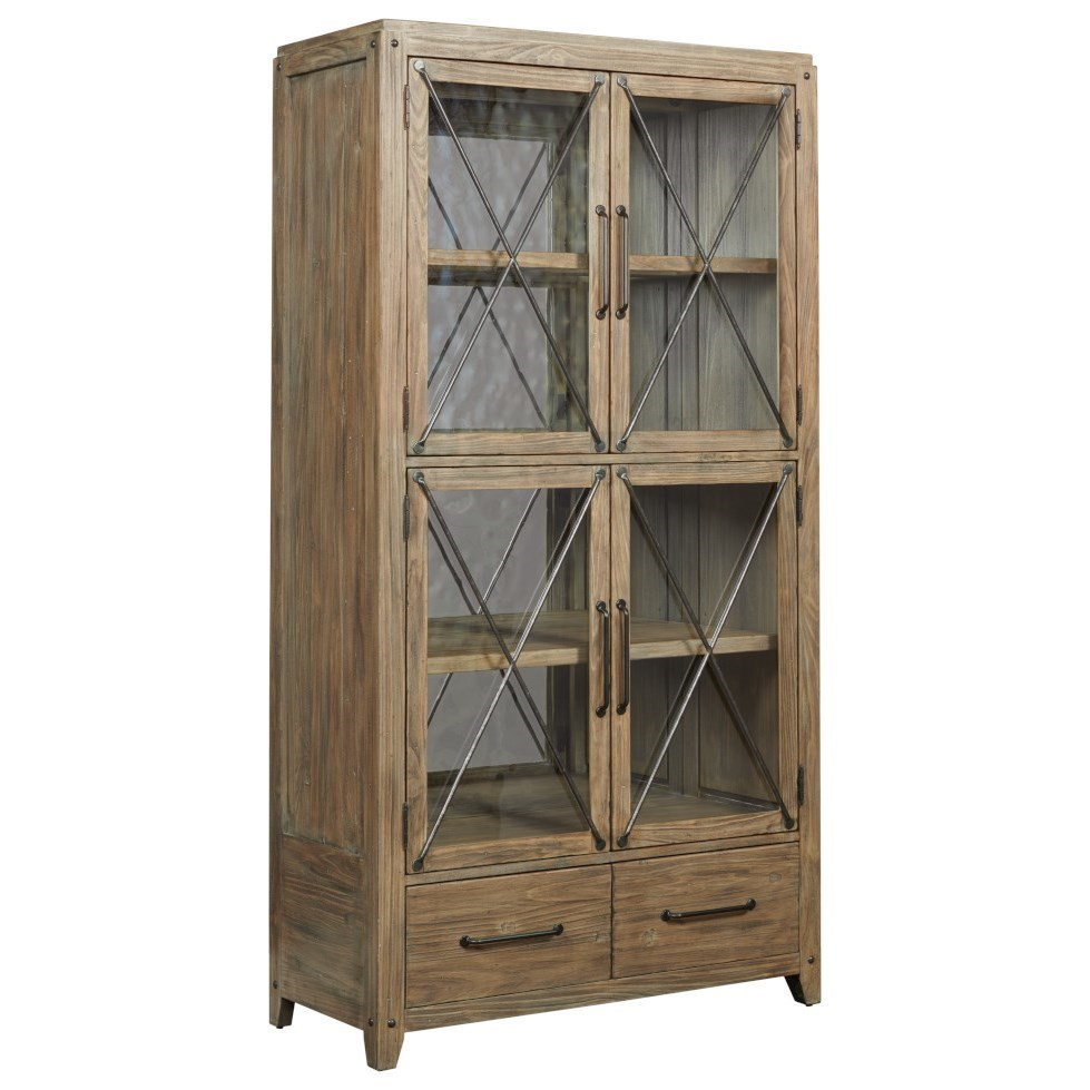 Modern Forge Abbott Display Cabinet by Kincaid Furniture at Johnny Janosik
