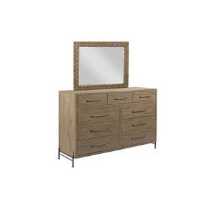 Chest Dresser and Mirror