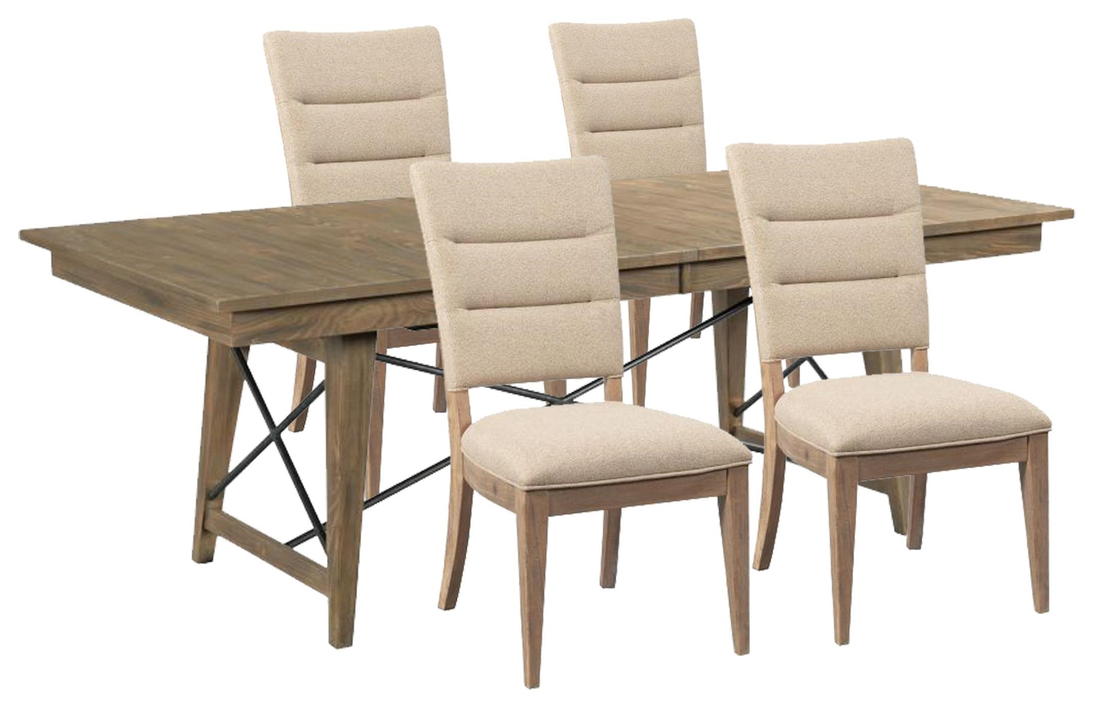 Modern Forge Dining Table and 4 Chairs by Kincaid Furniture at Johnny Janosik