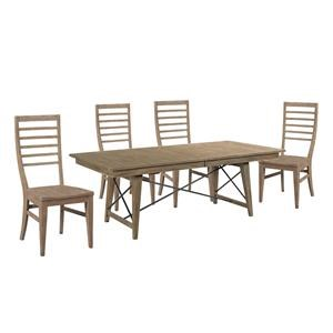 Rectangle Table and Ladderback Chair