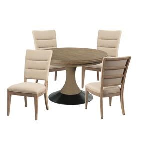 Table and Upholstered Chair