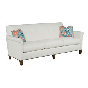 Customizable Button-Tufted Grand Sofa with Panel Arms and Nailhead Trim