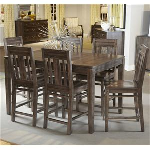Seven Piece Casual Counter Height Dining Set
