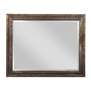 Track Landscape-Style Mirror with Solid White Cedar Frame