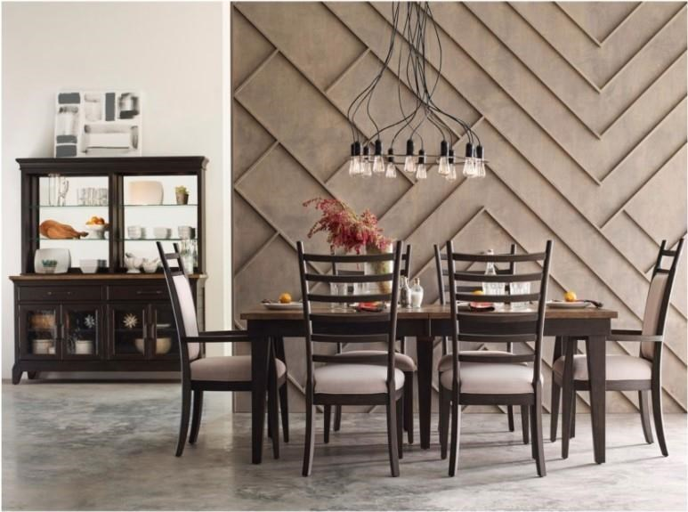 Pike Place Dining Set w/ Rankin Table by Kincaid Furniture at Morris Home
