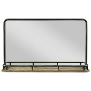 Westwood Landscape Mirror with Metal Gallery Shelf