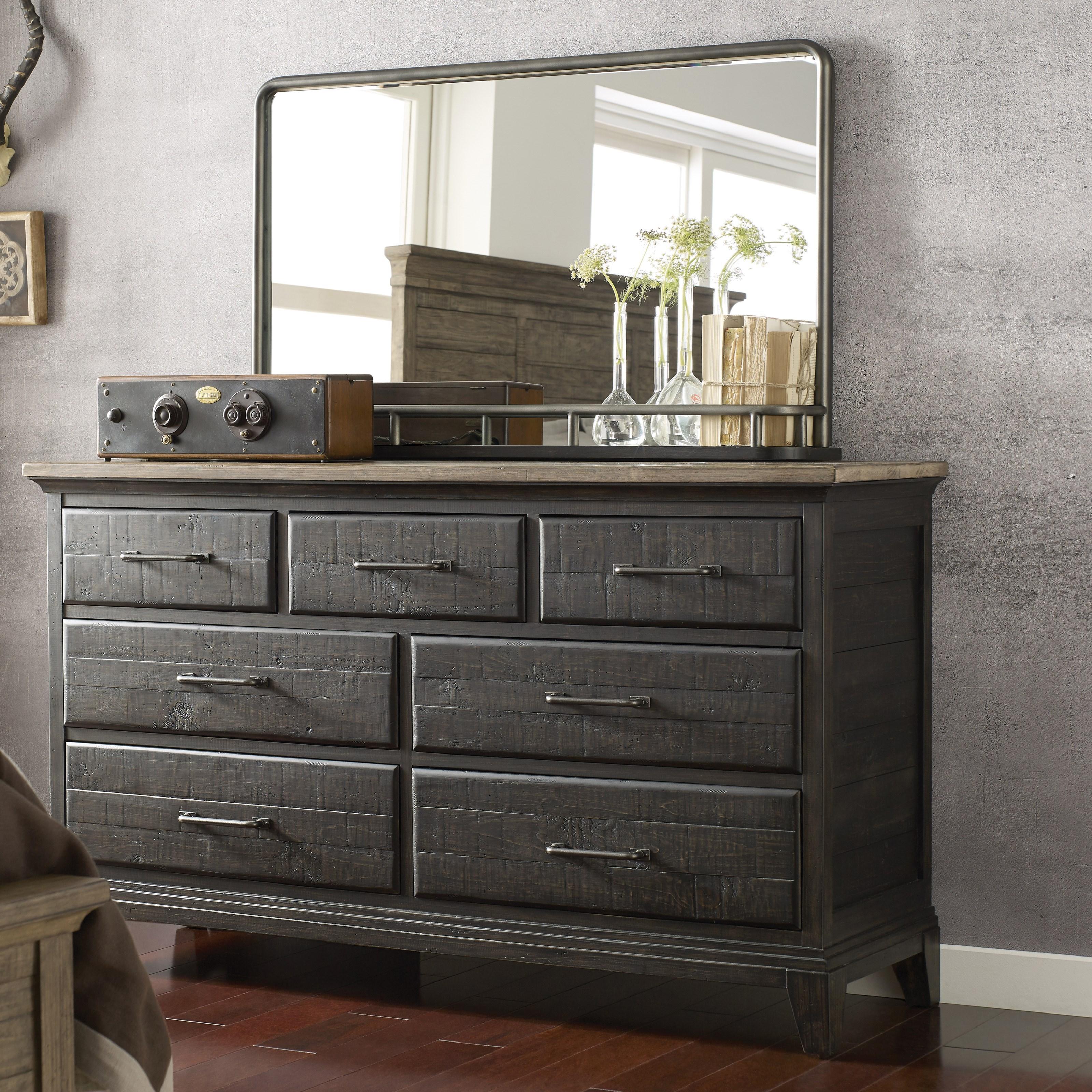 Plank Road Farmstead Dresser + Westwood Mirror Set at Stoney Creek Furniture