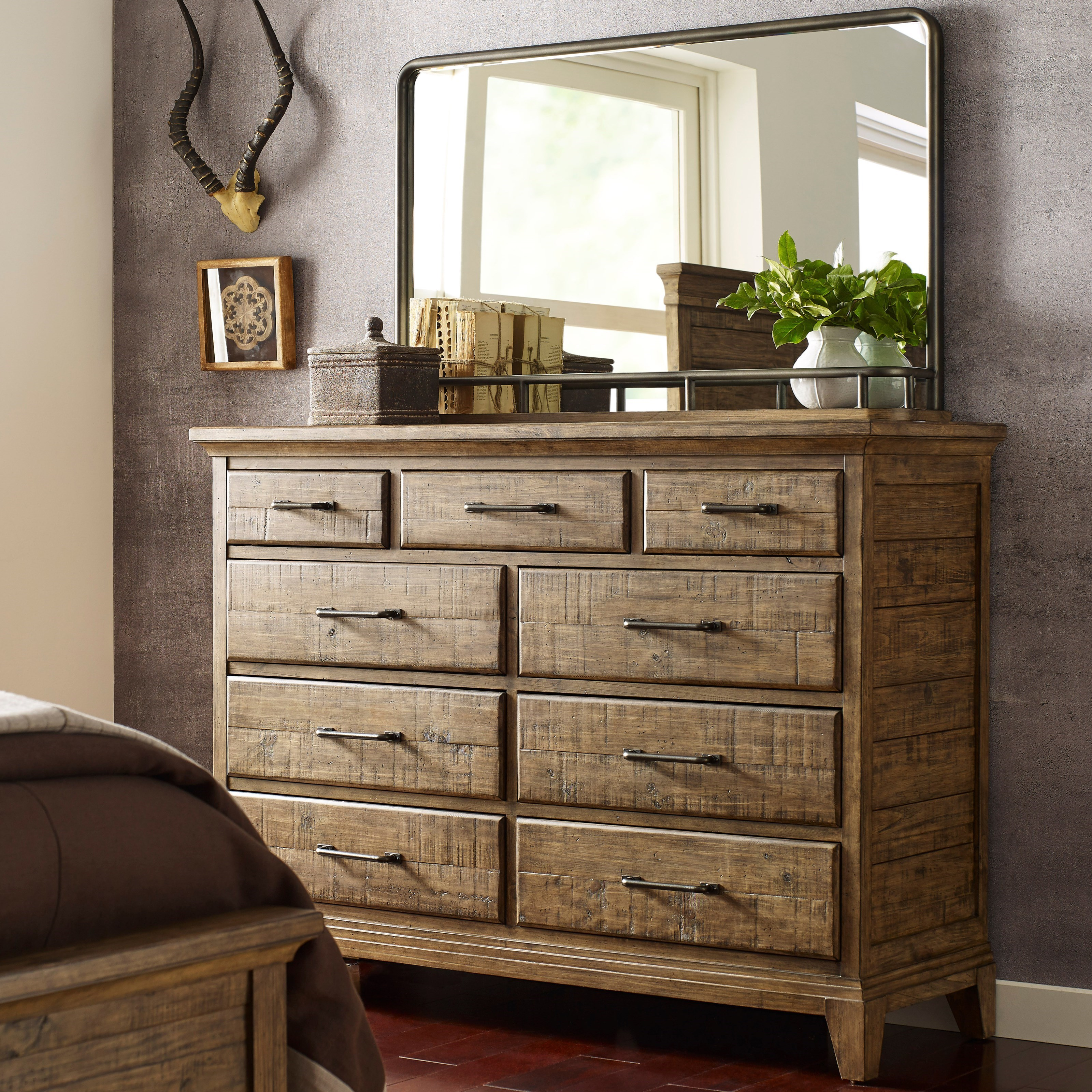 Plank Road Westwood Bureau and Mirror Set by Kincaid Furniture at Northeast Factory Direct