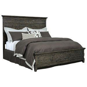 Jessup Solid Wood King Panel Bed