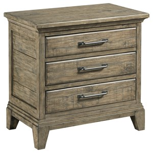 Blair Three Drawer Nightstand with Night Light and Electrical Outlet