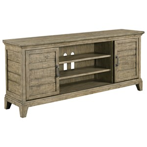 Arden Entertainment Console with Sliding Doors and Built-In Electrical Outlet