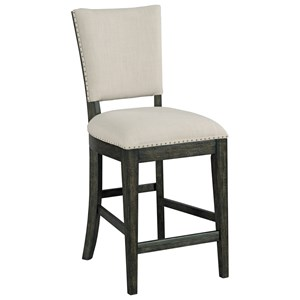 Kimler Upholstered Counter Height Chair