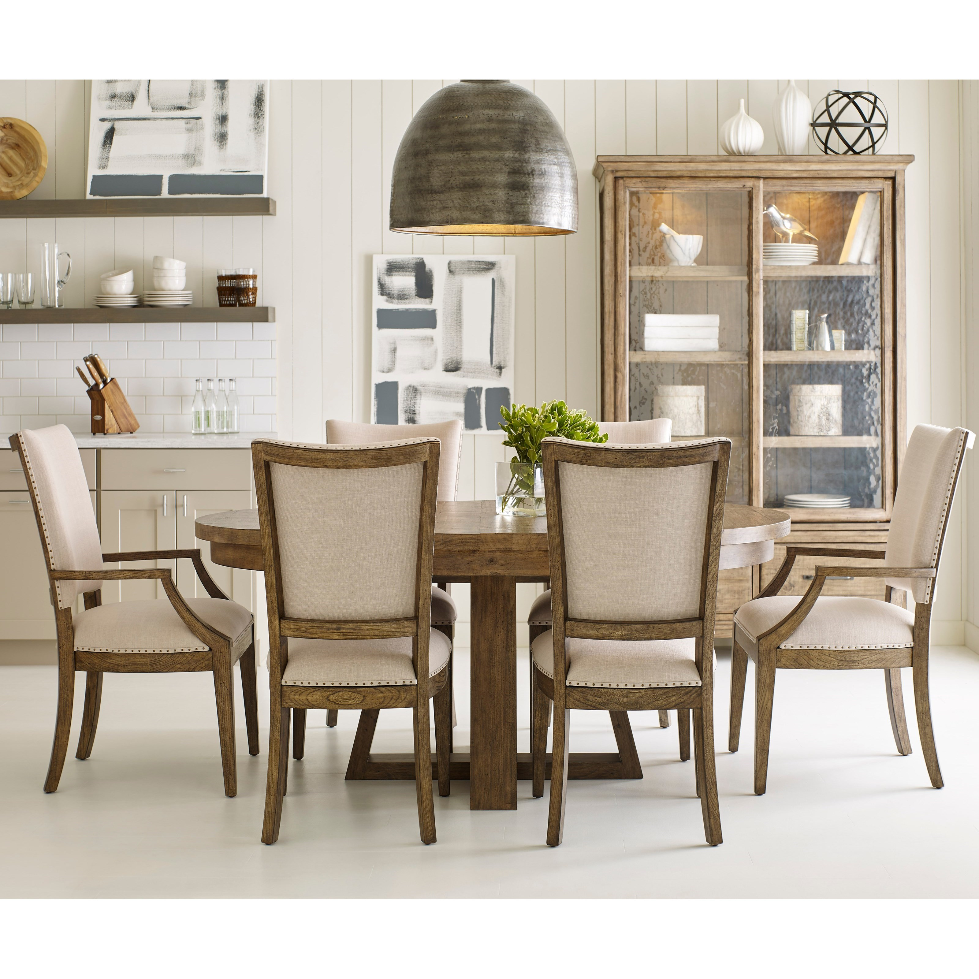 Plank Road 7 Pc Dining Set w/ Button Table at Stoney Creek Furniture