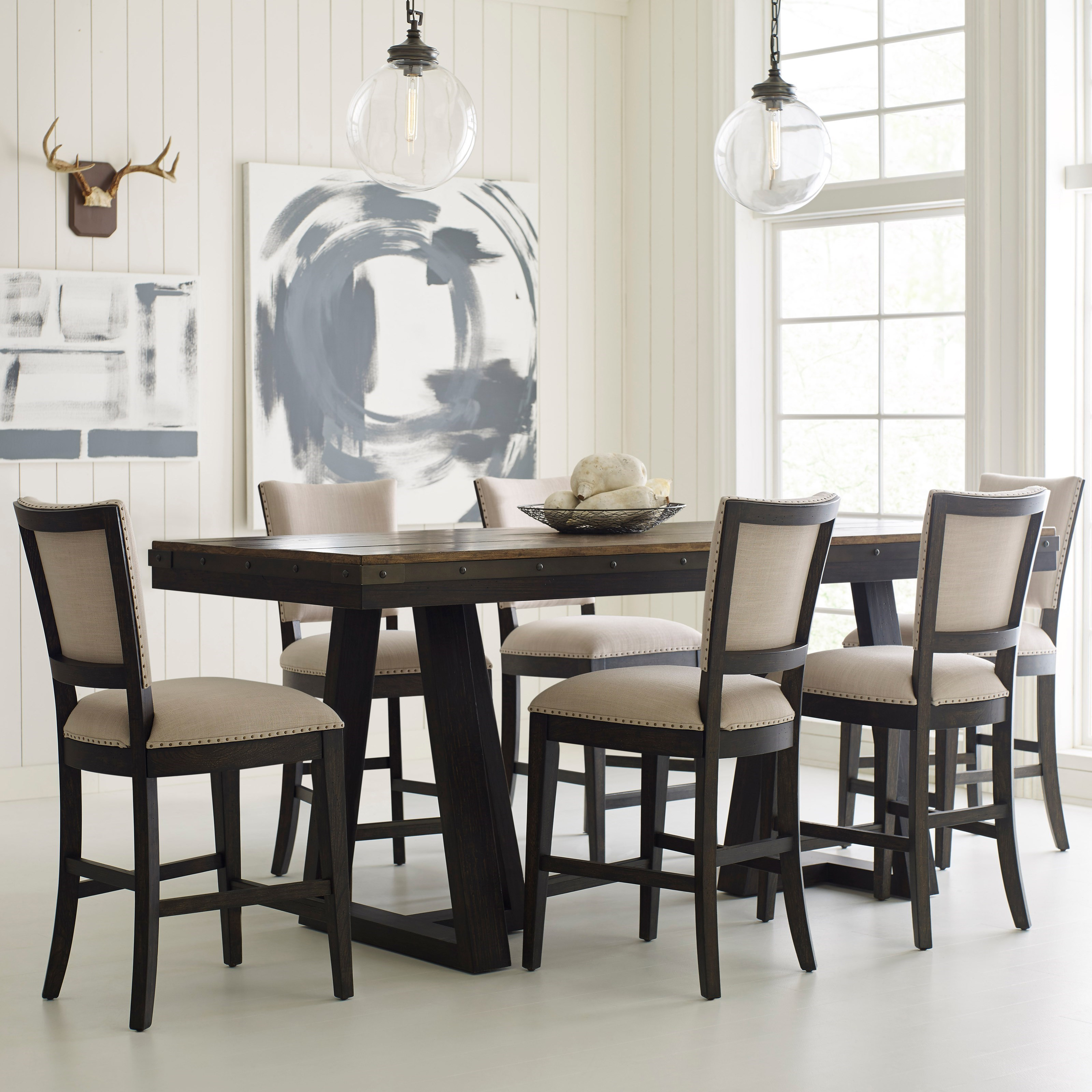 Plank Road 7 Pc Counter Height Dining Set by Kincaid Furniture at Northeast Factory Direct