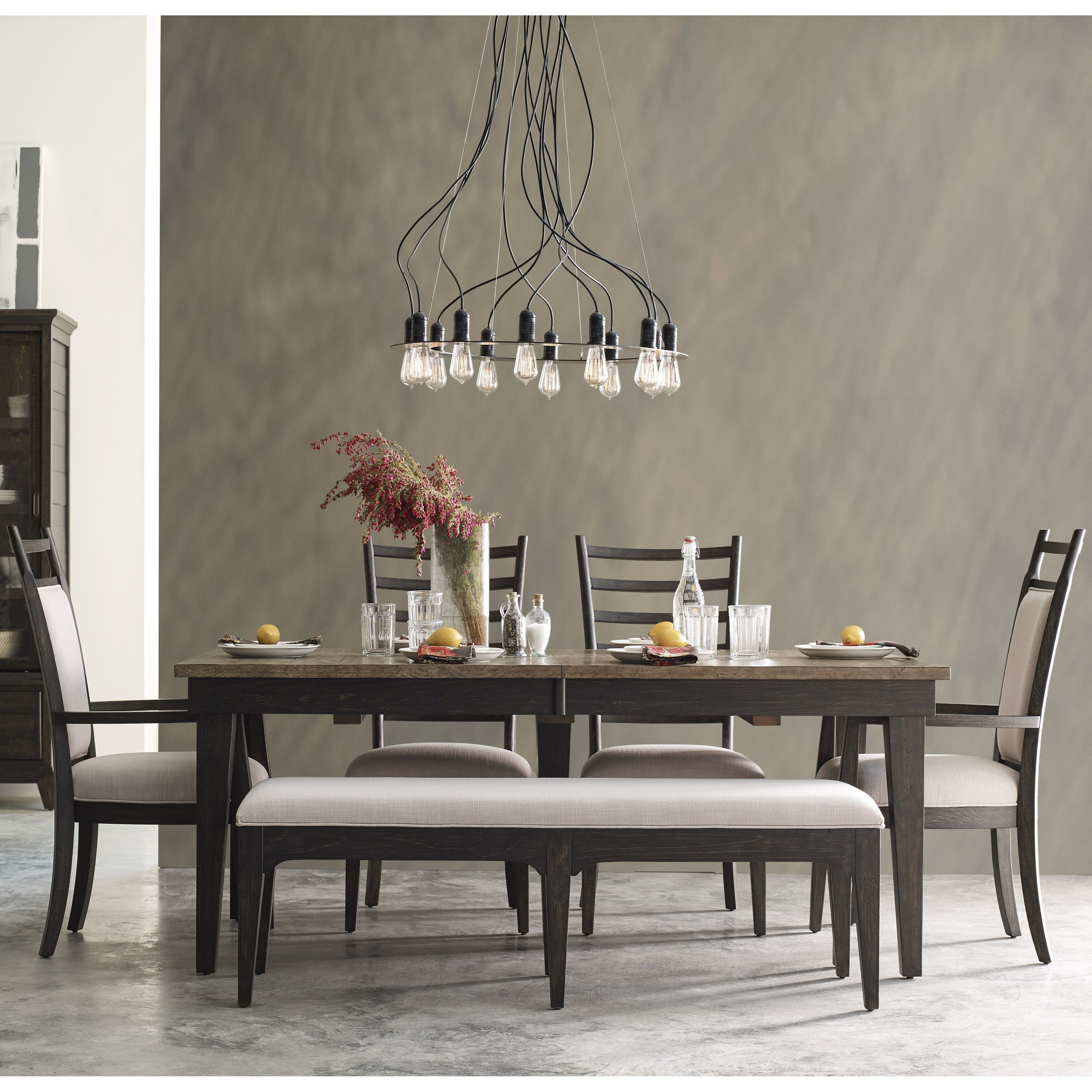 Plank Road 6 Pc Dining Set w/ Bench at Stoney Creek Furniture