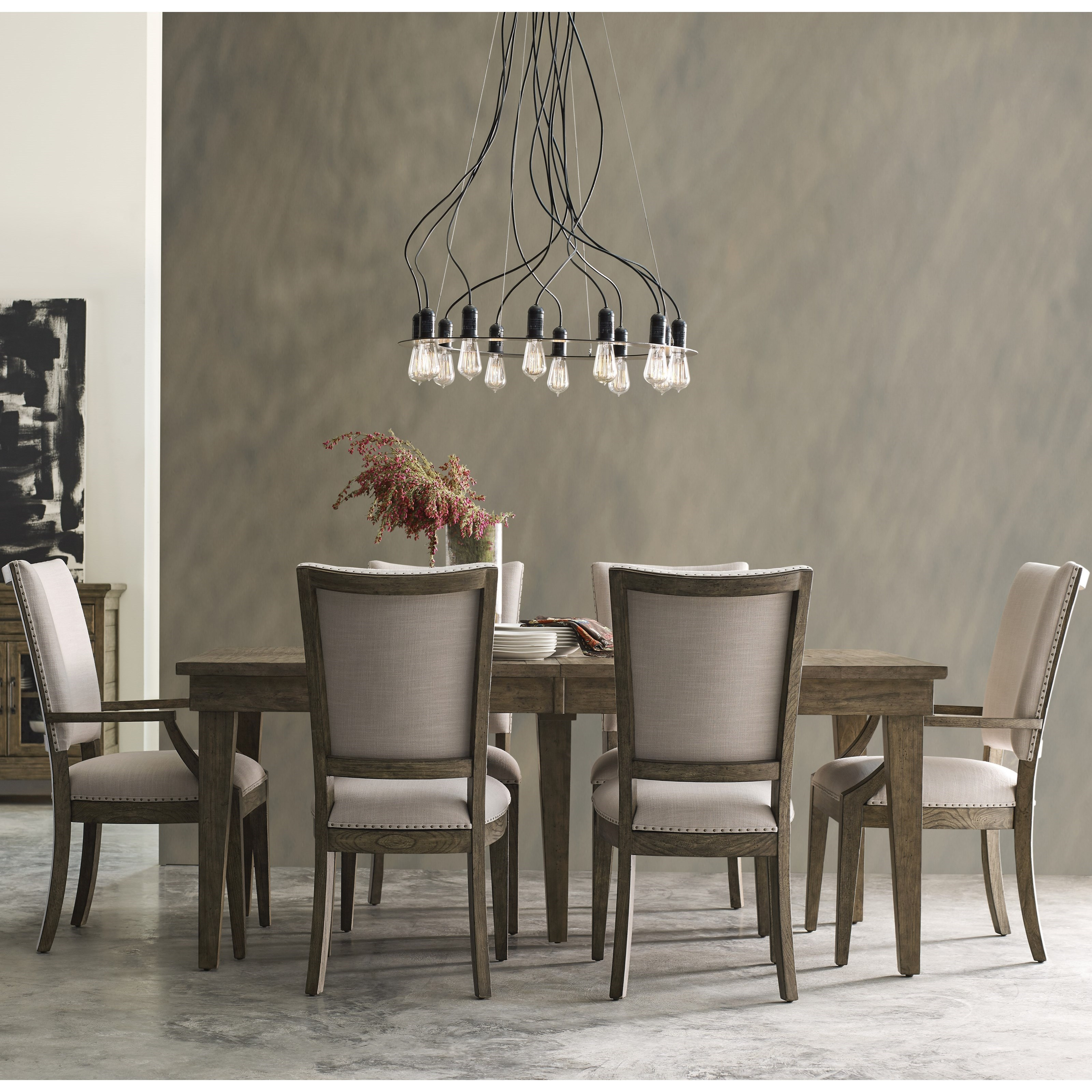 Plank Road 7 Pc Dining Set w/ Rankin Table by Kincaid Furniture at Johnny Janosik