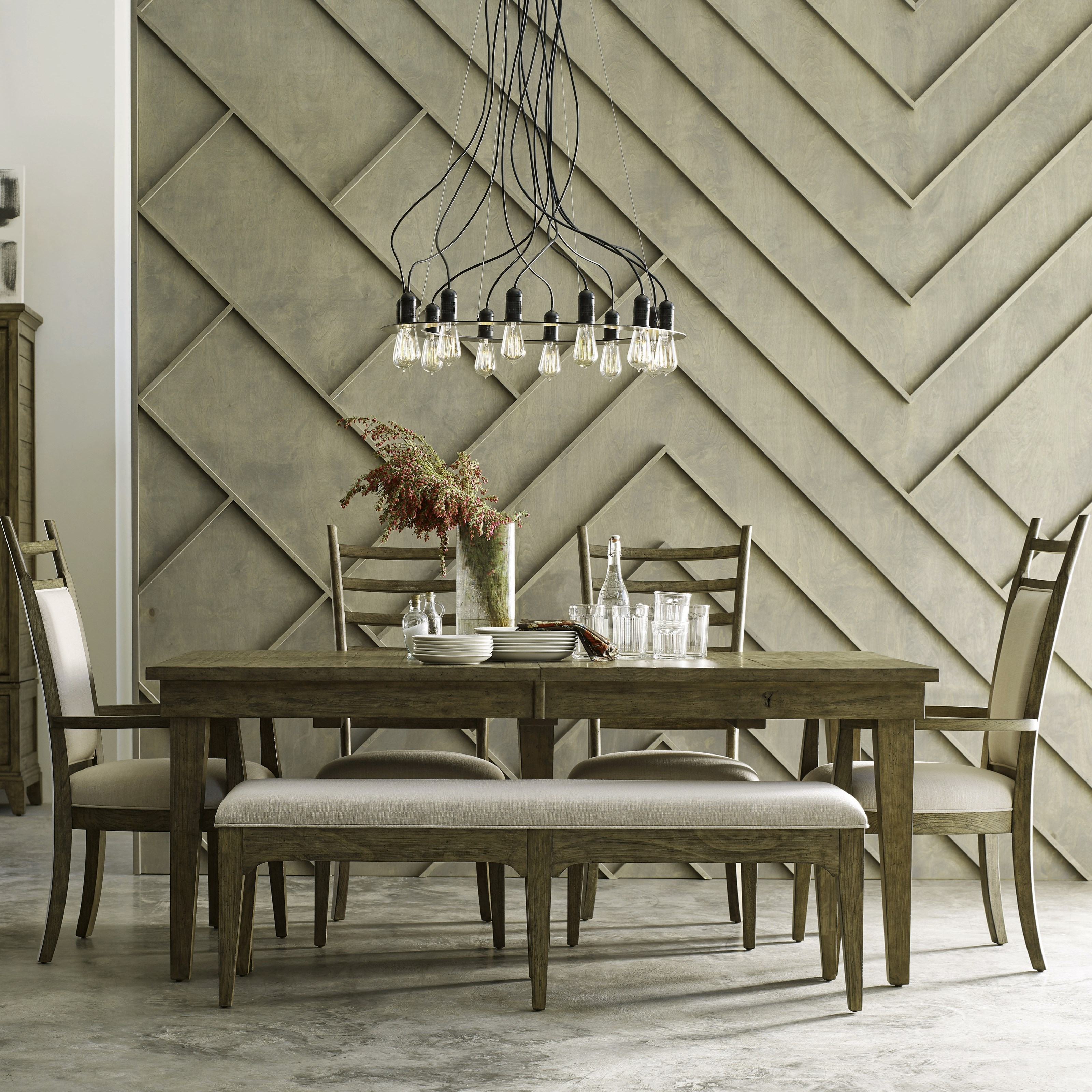Plank Road 6 Pc Dining Set w/ Bench by Kincaid Furniture at Home Collections Furniture