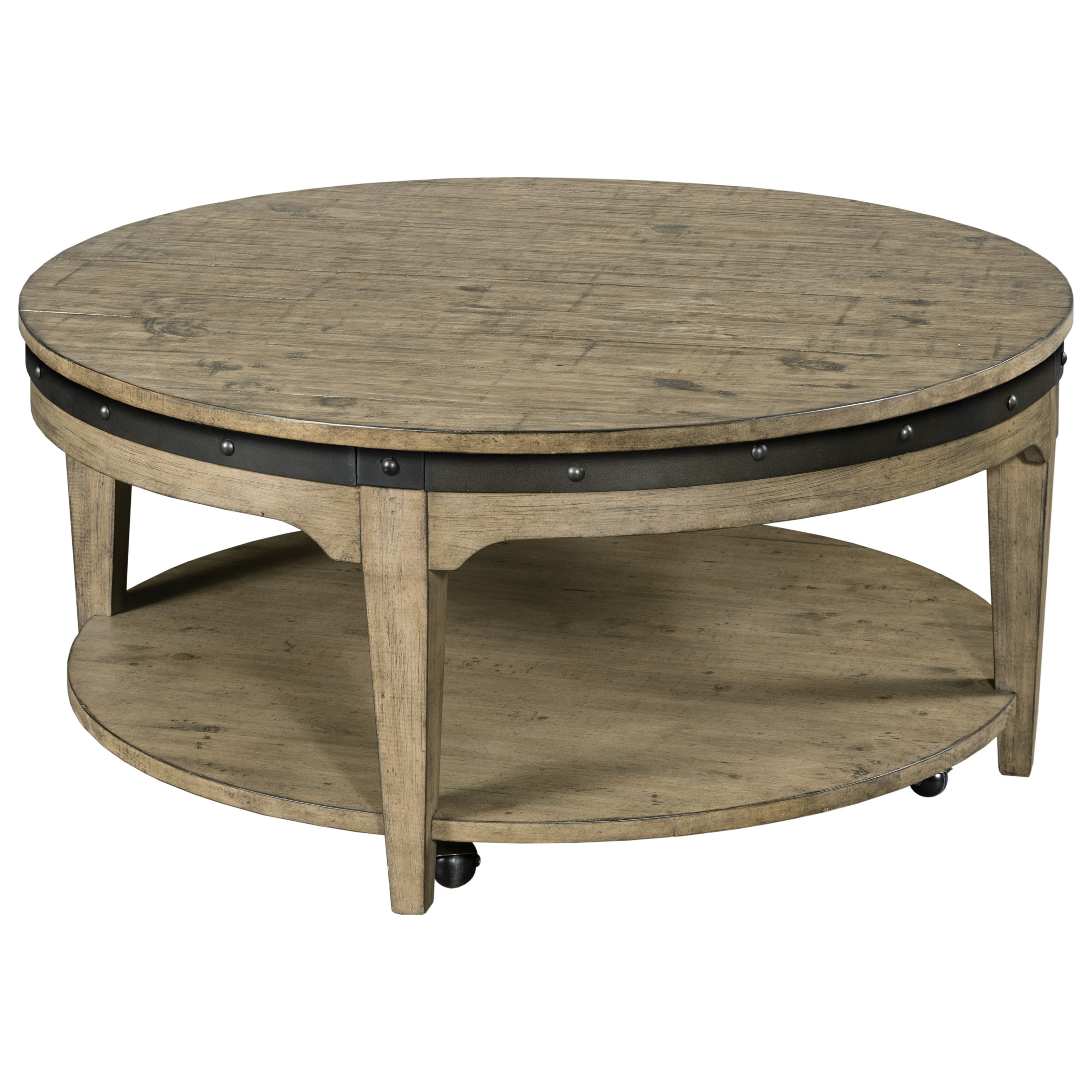 Plank Road Artisans Round Cocktail Table                by Kincaid Furniture at Johnny Janosik