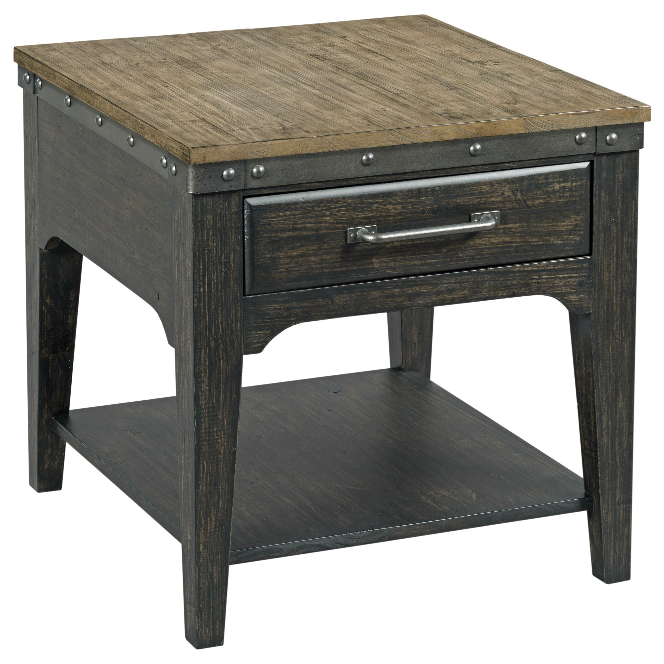 Plank Road Artisans Rectangular Drawer End Table        by Kincaid Furniture at Darvin Furniture