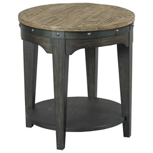 Artisans Round Solid Wood End Table