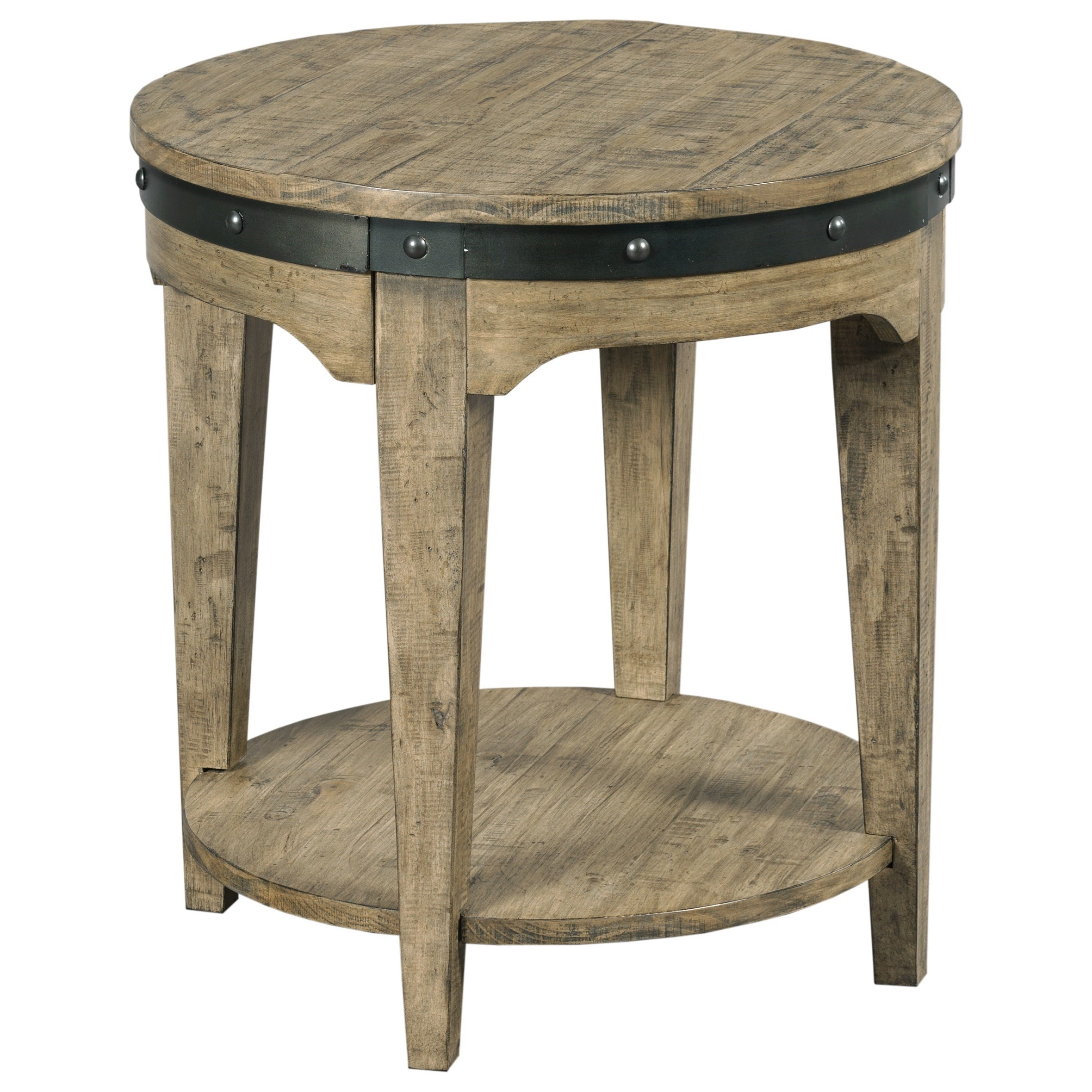 Plank Road Artisans Round End Table                     by Kincaid Furniture at Johnny Janosik