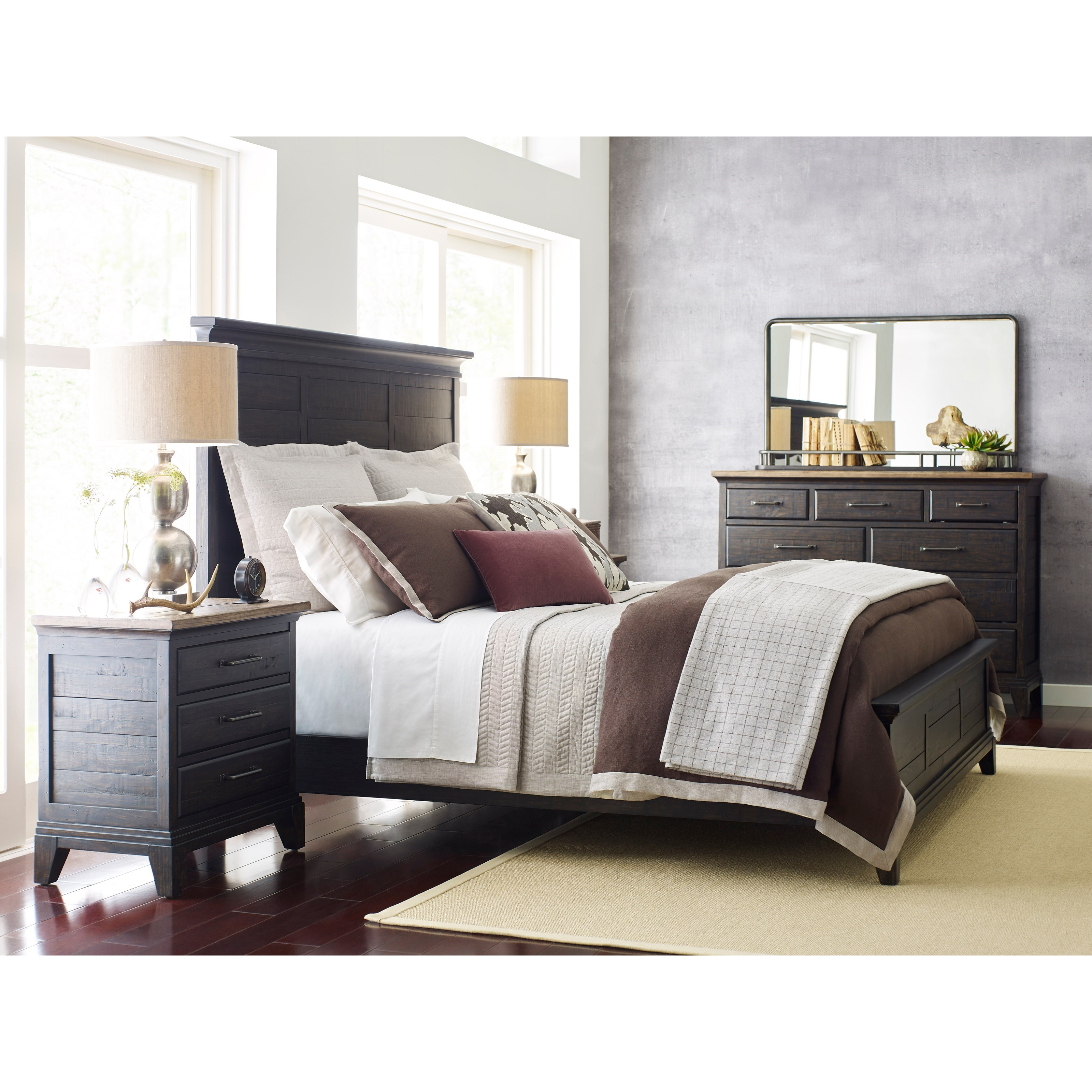 Plank Road Queen Bedroom Group by Kincaid Furniture at Northeast Factory Direct