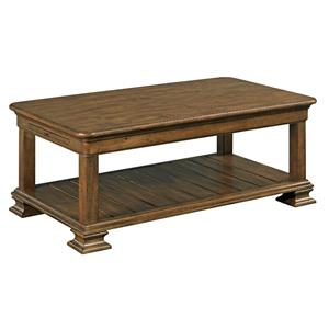 Traditional Rectangular Solid Wood Cocktail Table