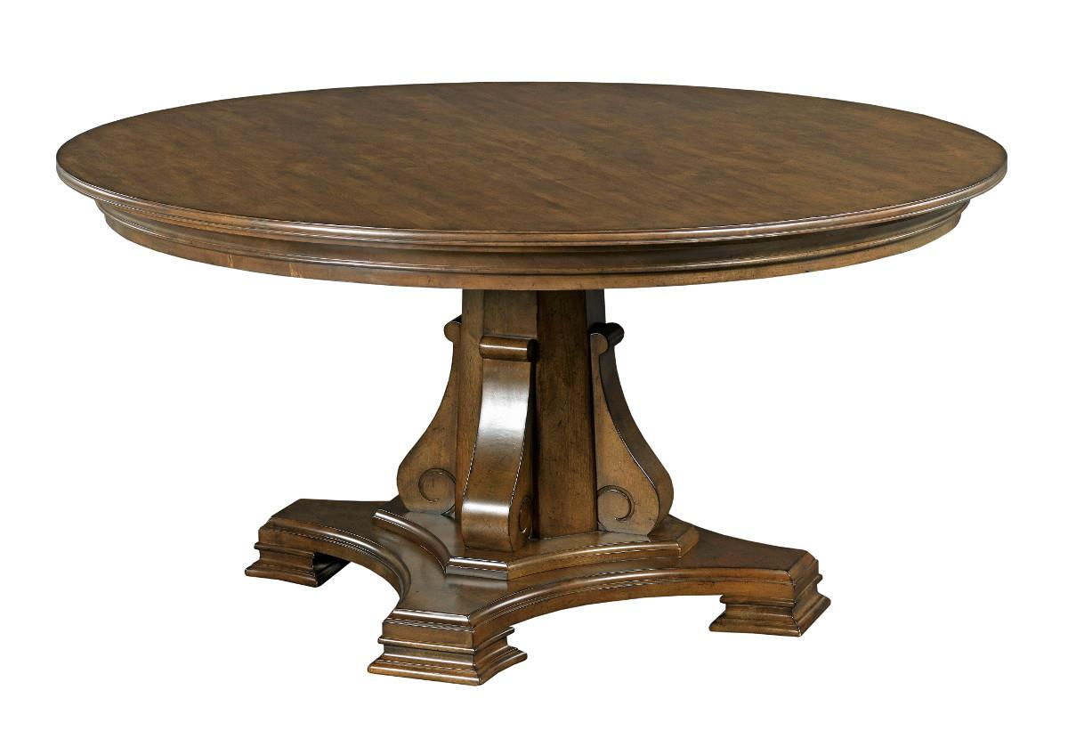 """Portolone 60"""" Round Dining Table by Kincaid Furniture at Northeast Factory Direct"""