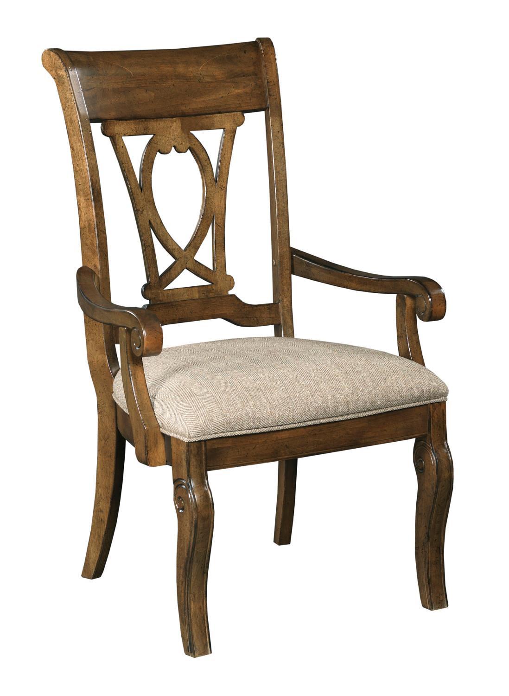Portolone Harp Back Arm Chair by Kincaid Furniture at Johnny Janosik