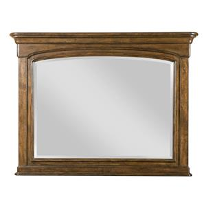 Traditional Landscape Mirror with Solid Wood Frame
