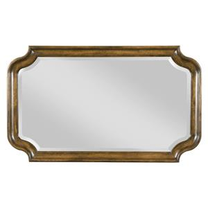 Traditional Bureau Mirror with Scalloped Frame