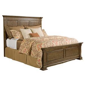 Queen Monteri Solid Wood Panel Bed