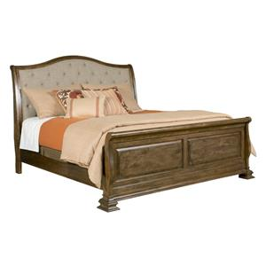 King Upholstered Sleigh Bed