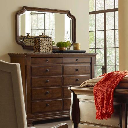 Portolone Portolone Bureau and Mirror Set  by Kincaid Furniture at Johnny Janosik