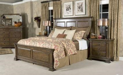Portolone Queen Bed Set, Bureau, Nightstand, Mirror by Kincaid Furniture at Johnny Janosik