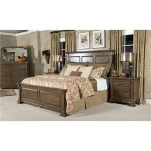Queen Bed Set, Bureau, Nightstand, Mirror