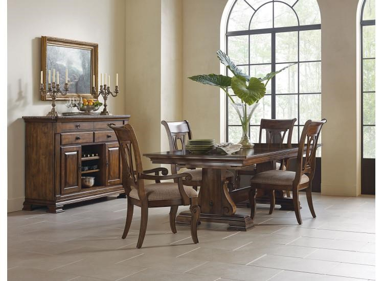Portolone Table and 4 Side Chair by Kincaid Furniture at Johnny Janosik