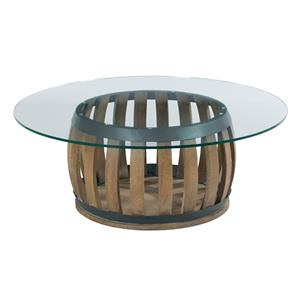 Kincaid Furniture Stone Ridge Round (Wine Barrel) Cocktail Table