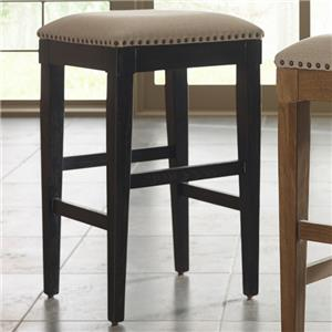 Transitional Bistro Table Stool with Performance Fabric Upholstery