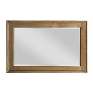 Traditional Landscape Mirror with Beveled Frame