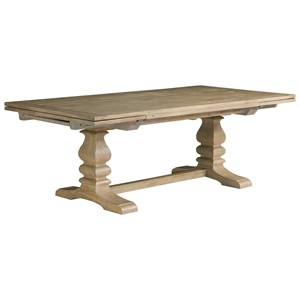Adler Trestle Table with Self-Storing Leaves