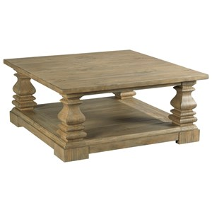 Magna Square Coffee Table with Shelf