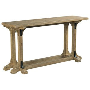 Guild Console Table with Metal Accents