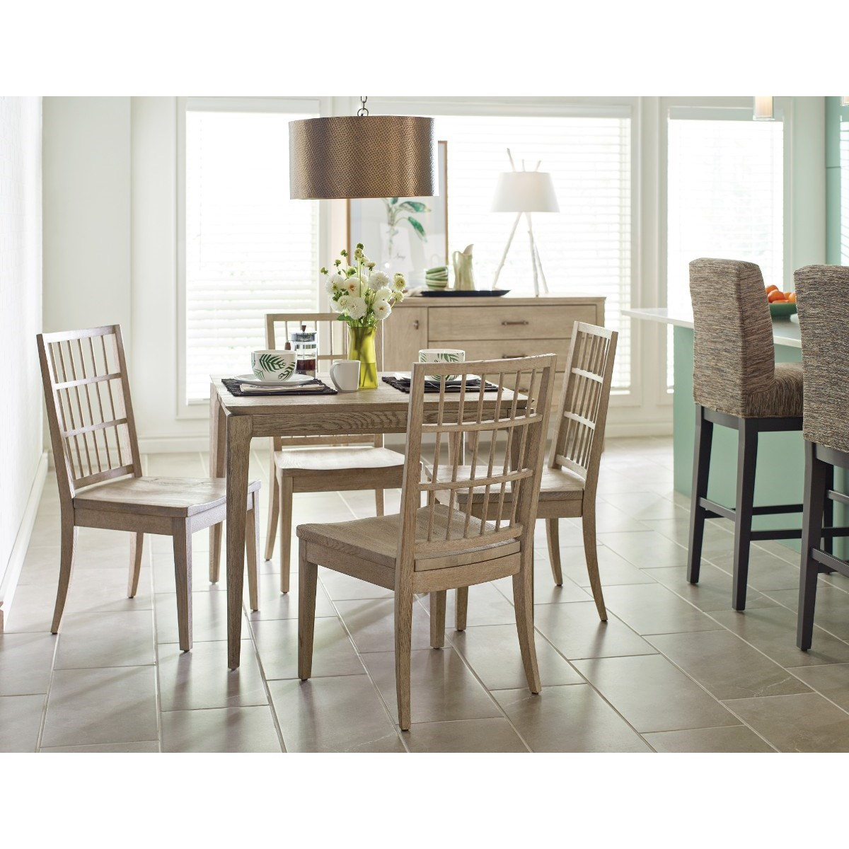 Symmetry Dining Room Group by Kincaid Furniture at Johnny Janosik