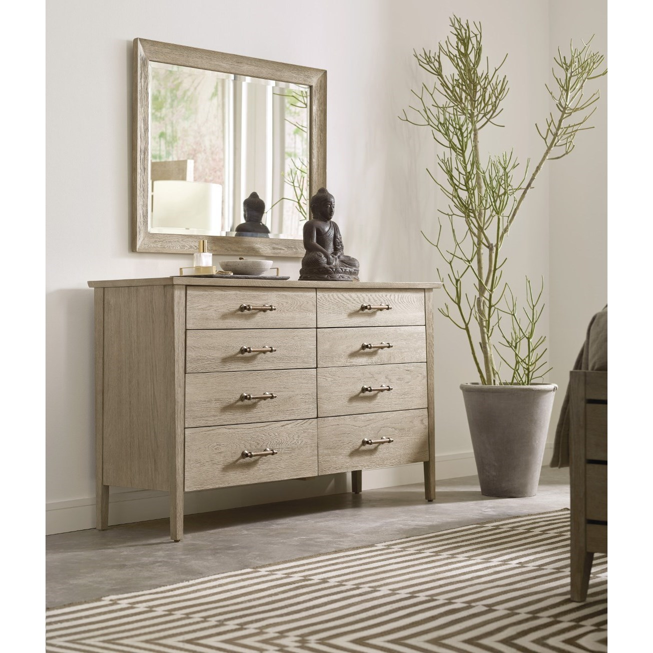 Symmetry Dresser and Mirror Set at Stoney Creek Furniture