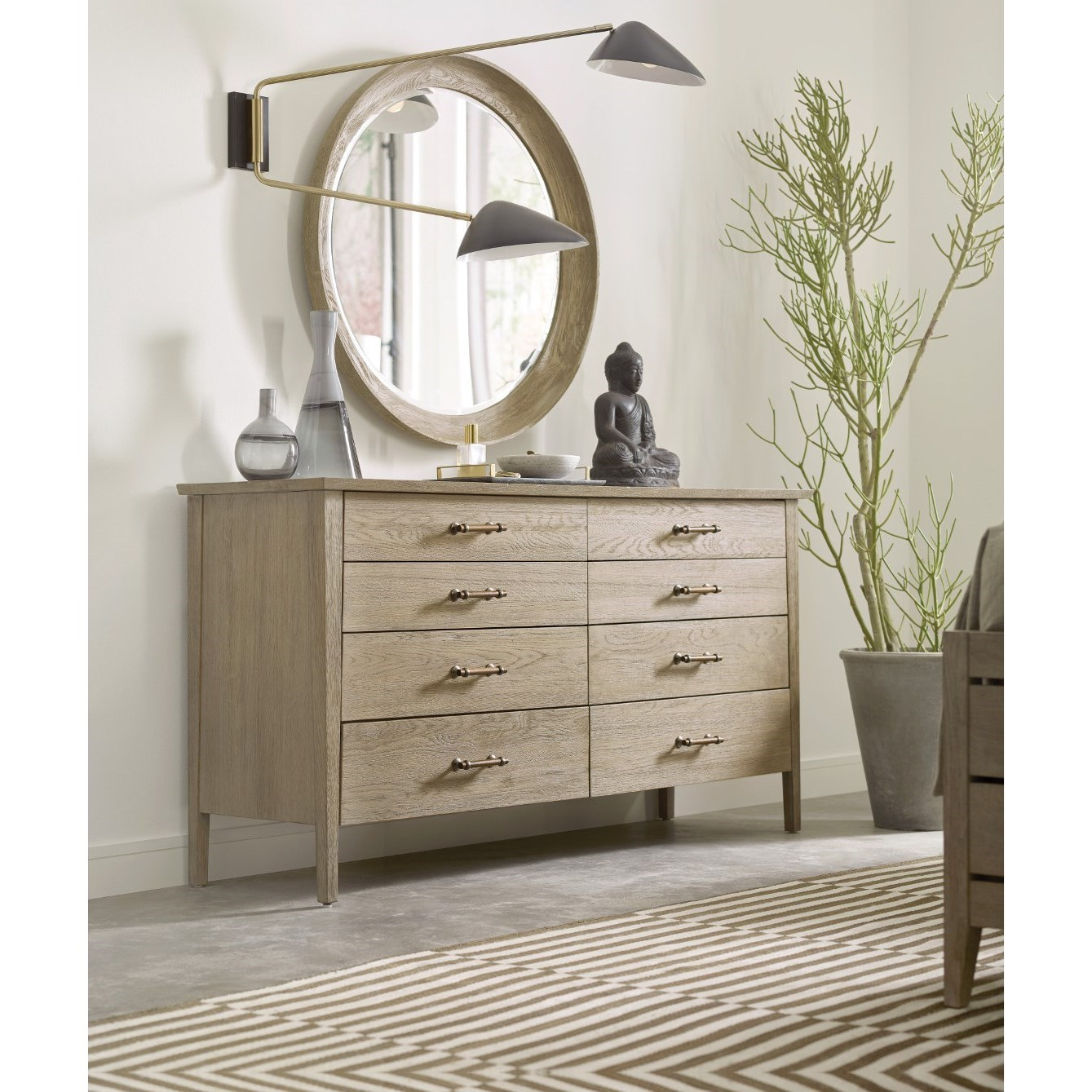 Symmetry Dresser and Mirror Set by Kincaid Furniture at Johnny Janosik