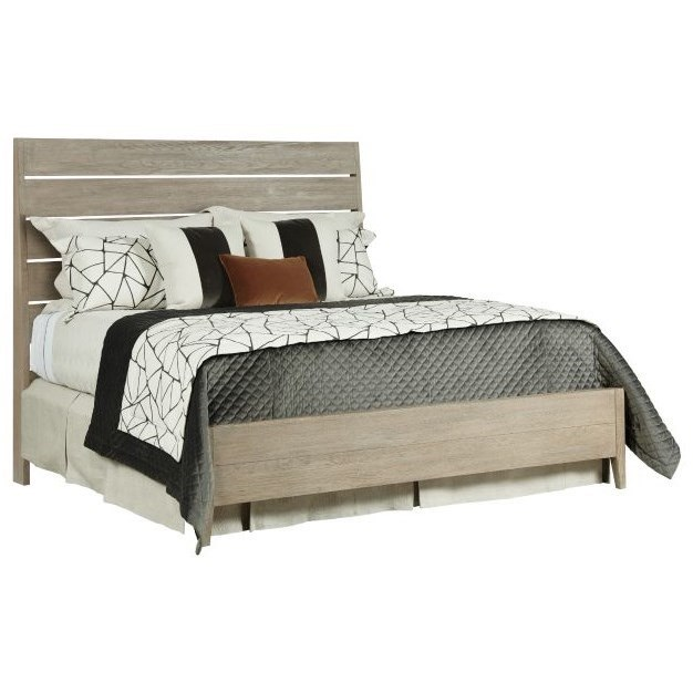 Symmetry Incline Oak Queen Platform Bed by Kincaid Furniture at Northeast Factory Direct