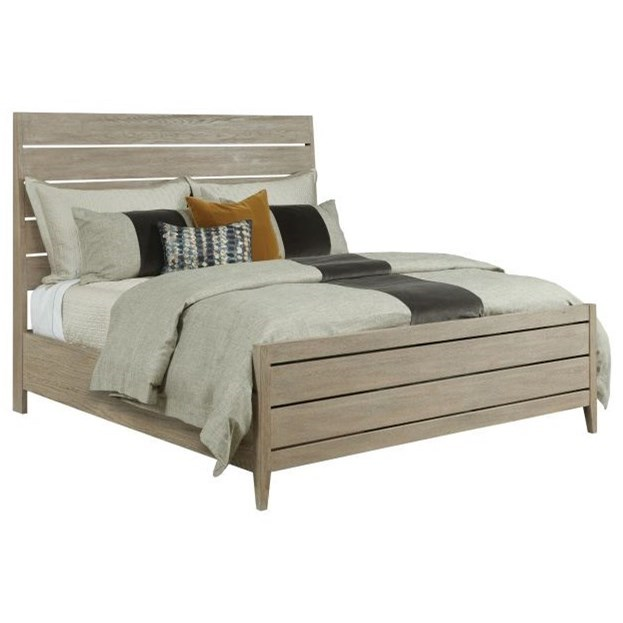 Symmetry Incline Oak King Platform Bed by Kincaid Furniture at Northeast Factory Direct